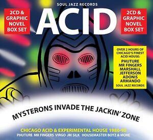 SOUL-JAZZ-RECORDS-PRESENTS-ACID-MYSTERONS-INVADE-THE-JACKIN-039-ZONE-2-CD-NEW