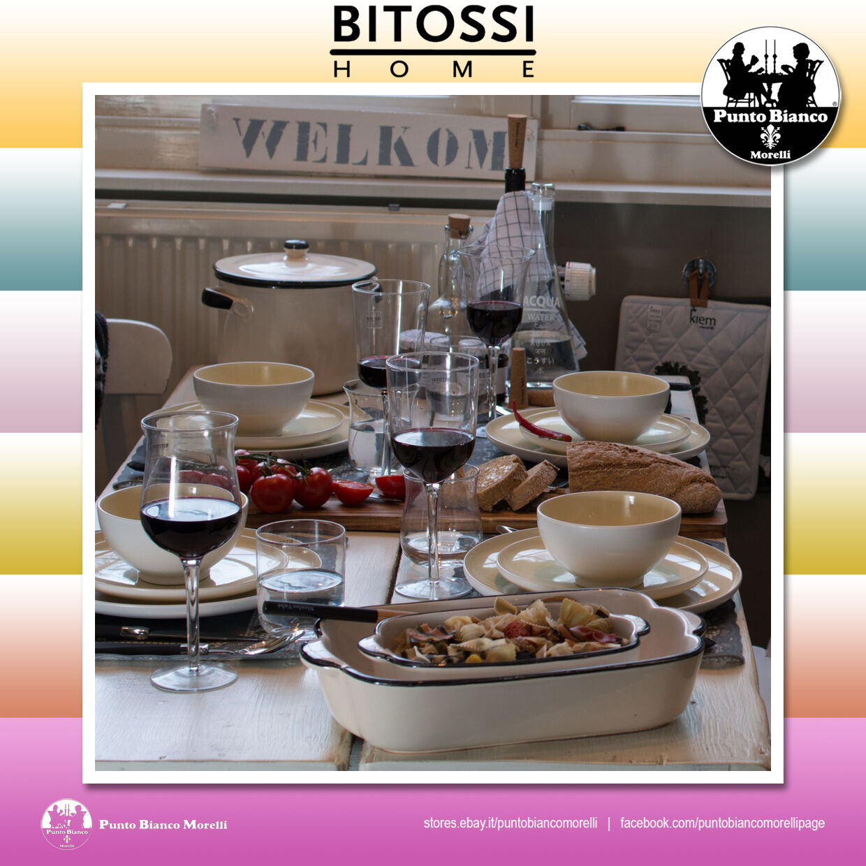 BITOSSI HOME. DISEGUALE Set 6 calici   One set of 6 stem glass