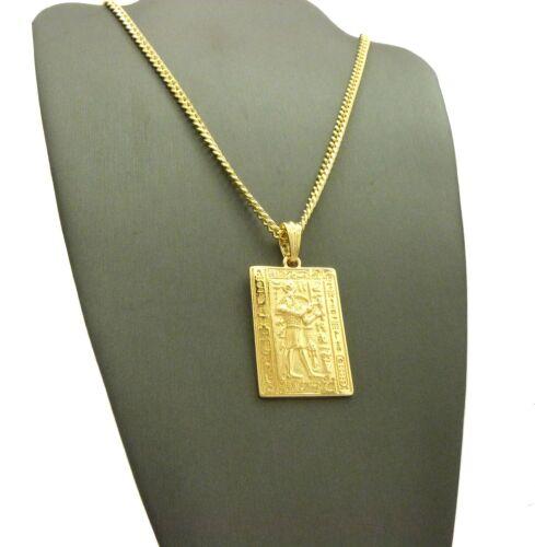 """Egyptian Antique hiéroglyphique Alphabet Thot Pendentif 24/"""" Divers Chaîne Collier"""