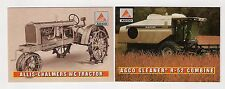 1995 AGCO 2 collect/trading cards, #A3 #A4, Allis-Chalmers WC tractor, combine