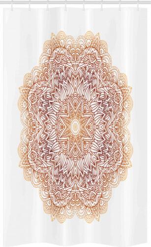 Brown Mandala Schmaler Duschvorhang Blätter Stern