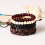 Fashion-Men-Women-Handmade-Genuine-Leather-Bracelet-Braided-Bangle-Wristband-Set miniatura 24