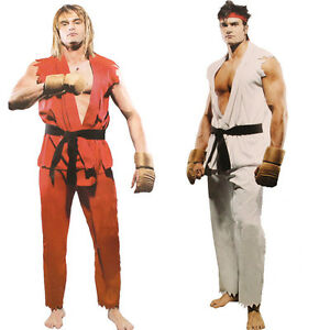 Superior Details About Halloween Fancy Costumes Street Fighter Cosplay Outfit Set  Adult Man Costumes