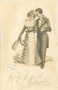 Abiti Da Sera 1900.Dama E Gentiluomo In Abiti Da Sera 1900 Ebay