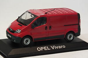 Minichamps-Opel-Vivaro-Kastenwagen-1-43-Rot-Modellauto-OVP
