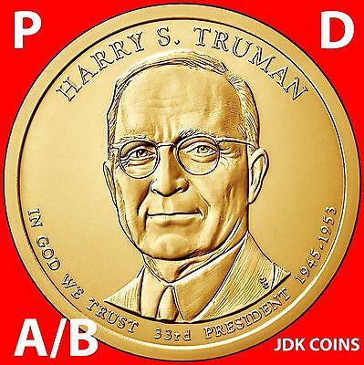 2015 P&D POSITION A & B - HARRY TRUMAN PRESIDENTIAL DOLLAR UNCIRCULATED SET