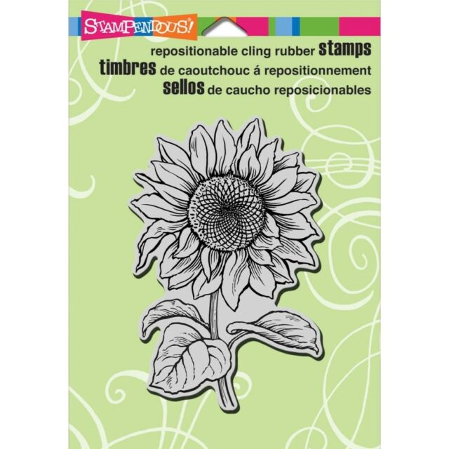 """Stampendous Cling Rubber Stamp - """"Sweet Sunflower"""""""