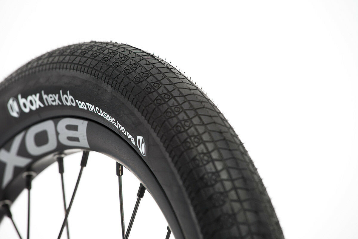 20x1.95 BOX Hex Lab Folding Kevlar BMX tire 110psi Made in Japan