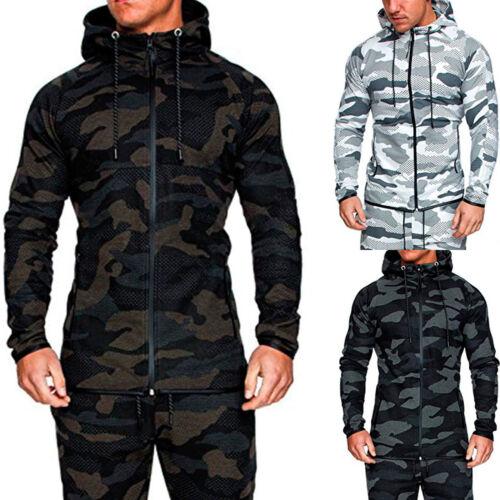 US Mens Tracksuit Jogging Top Bottom Sport Sweat Suit Hoodie Trousers Pants Set