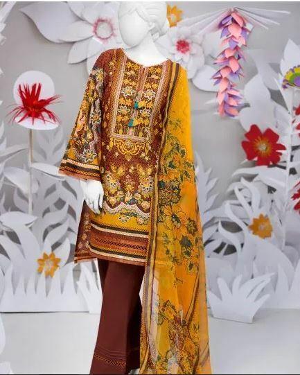 Junaid Jamshed 100% ORIGINAL 2pc Printed Lawn Suit Material J. / Khaadi