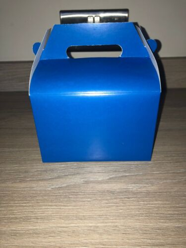 25 Coloured Party Lunch Boxes Blue Cardboard Lunch Box Party