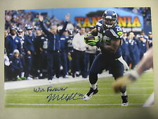 """Michael Robinson Seahawks Autograph 12x18 Photo W/ Insc """"Win Forever"""" SPH 0178"""
