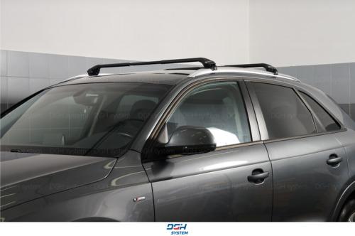 mit geschlossener Dachreling Dachträger Alu schwarz Für Suzuki SX4 S-Cross 13