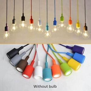Details About Color Coded Silicone Ceiling Rope Cord Pendant Lamp Holder Light Bulb Socket