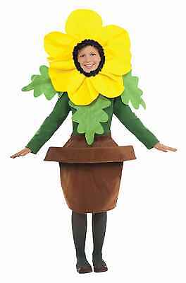 Childs Sunny Blossom Costume Flower Plant in Pot Leaves Petals Boys Girls Kids