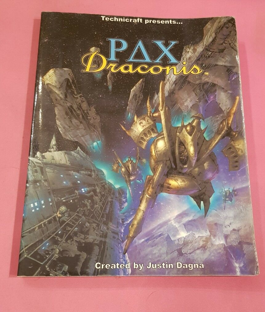 PAX DRACONIS - CORE BOOK - TECHNICRAFT RPG ROLEPLAYING SCIFI ROLEPLAY OOP RARE