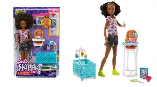Barbie Babysitters Inc Doll - Baby High Chair Set - Brand New