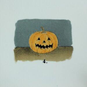 Rae-Dunn-Halloween-Ceramic-Jack-O-Lantern-Pumpkin-Plates-Set-of-4-VHTF