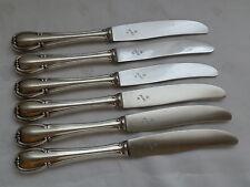 WMF 3200 Barock 6 Messer Tafelmesser 23,3 cm  90er Silber TOP