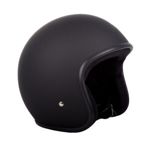 RXT-Low-Rider-Open-Face-Helmet-Matt-Black-no-studs-adults