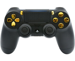 Black/Gold PS4 PRO 40 MODS Modded Controller for COD games All Games (CUH-ZCT2)