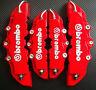 4Pcs Disc Brake 3D Cars Parts Caliper Covers Front Rear Red Car Tool Set