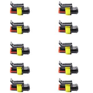15x 2+3+4 Pins Way Auto Auto Sigillato Impermeabile Elettrico Filo Spina
