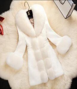 Ny Fur Coat Stilfuld Winter Stil Sød Kvinders Parka Warm Slim Outwear Fit Lang fApw7q