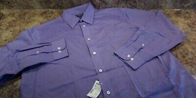 Men/'s Croft/&Barrow Classic-Fit Striped Black Broadcloth SpreadCollar Dress Shirt