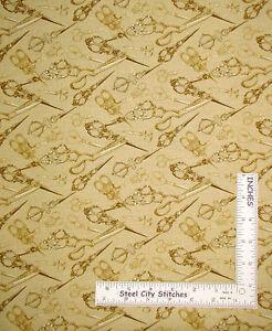 Sew-Notion-Scissor-Toss-Beige-Tan-Cotton-Fabric-Kanvas-Studio-Sew-Vintage-Yard
