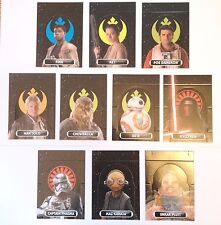 Star Wars Force Attax Extra STAND UP CARDS 129 -138 COMPLETE SET 10 TOPPS