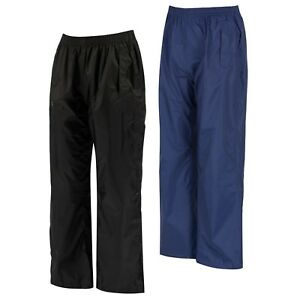 Regatta Kids Pack It Waterproof Over Trousers Girls Boys Packaway RKW110