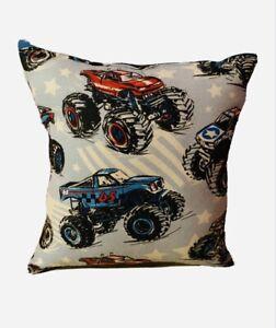 Monster-Trucks-Pillow-Blaze-Style-Pillow-Big-Foot-Pillow-Handmade-in-USA