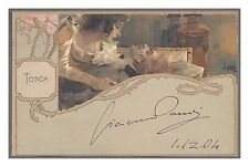 Giacomo Puccini Italian Opera Composer Autograph Postcard!  Attractive!