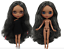 Long ash gray Curly Hair Blythe doll tanned joint body 1//6 BJD 4 Changing Eyes