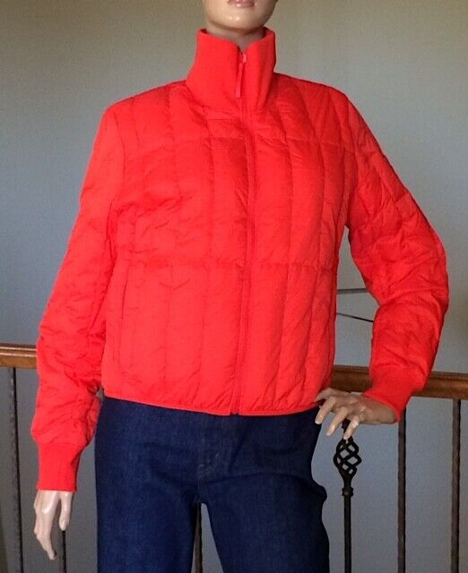 UNIQLO U LEMAIRE WOMEN ORANGE ULTRA LIGHT DOWN JACKET NWT SIZE M