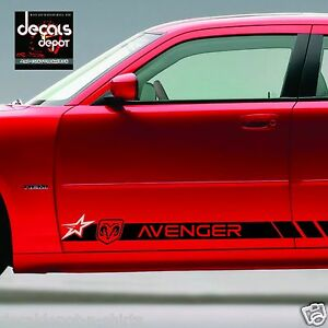 Decal-Vinyl-Sticker-Fits-Dodge-AVENGER-2009-to-2017-ROCKER-PANEL