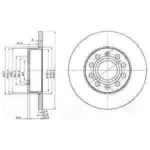 Delphi Rear 2x Coated Brake Discs BG3890C - BRAND NEW - 5 YEAR WARRANTY
