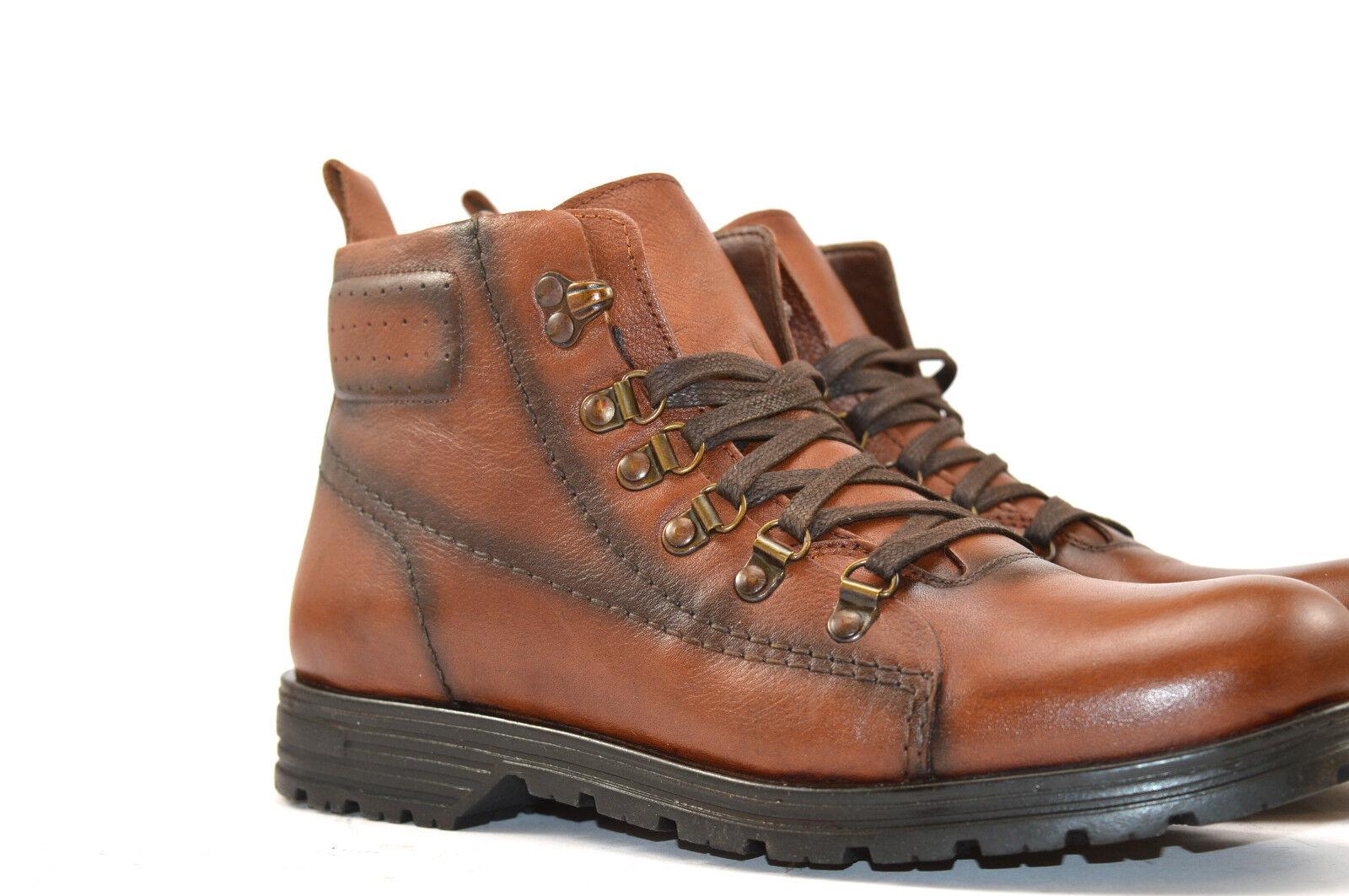 Neu Herren Trekkingschuhe Stiefel Stiefel Echtleder Outdoor braun 40 41 42 43 44 6