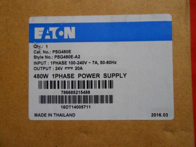 EATON  PSG480E  POWER SUPPLY 1PH  24VDC @ 20A