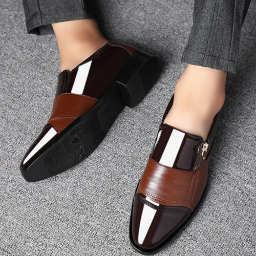 Men Oxfords Leather Shoes Casual Pointed Toe Wedding Formal OL Dress Work Shoes