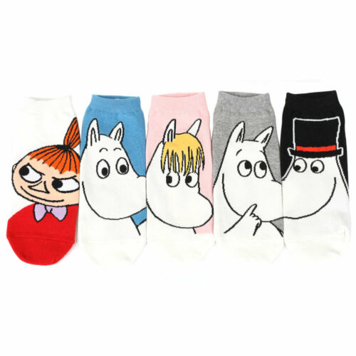 Moomin Women/'s Socks 5 pairs Made in Korea One Size Fit All