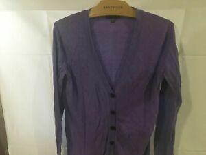 GAP-Women-039-s-V-Neck-Button-Up-Soft-Cardigan-Purple-Sweater-Size-Medium
