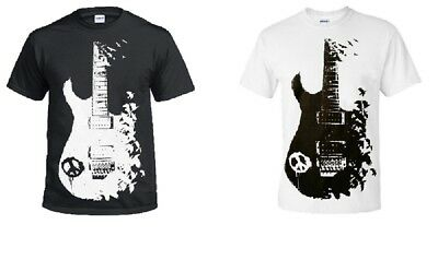 1 O 2 Pack Uomo Stampata Band Guitar T Shirts Tee Top Goth Punk Metal Rock Nuovo-mostra Il Titolo Originale