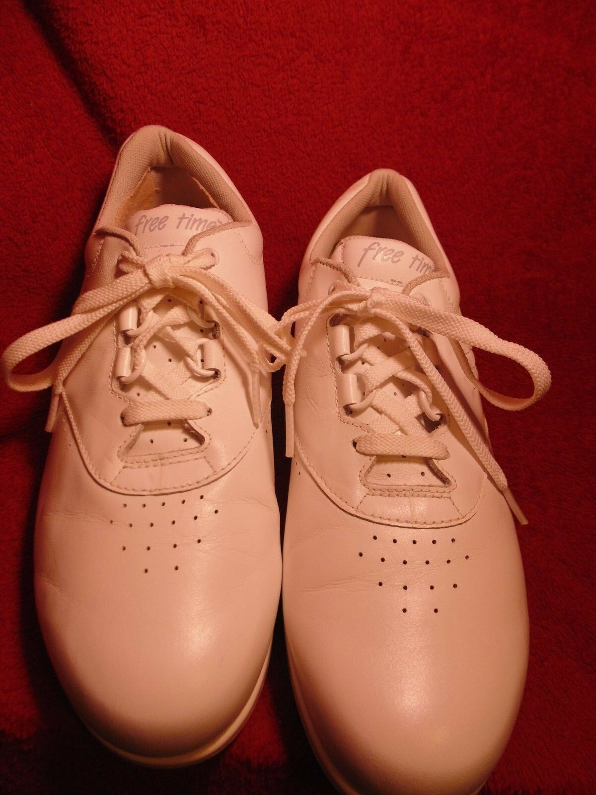 SAS SAS SAS Freetime women's white shoe  size 9M tie oxford 4e7c5d
