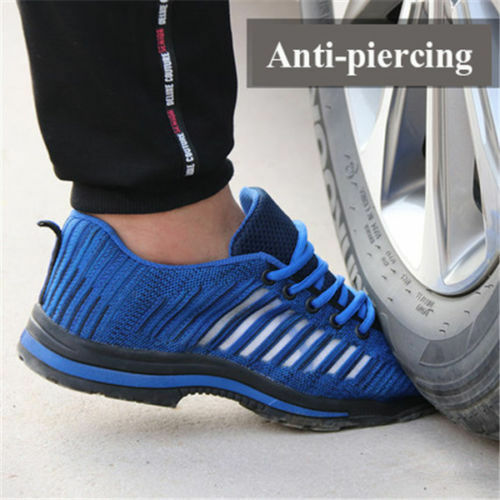Mens Work Safety Shoes Breathable Outdoor Steel Toe Footwear Industrial Shoes