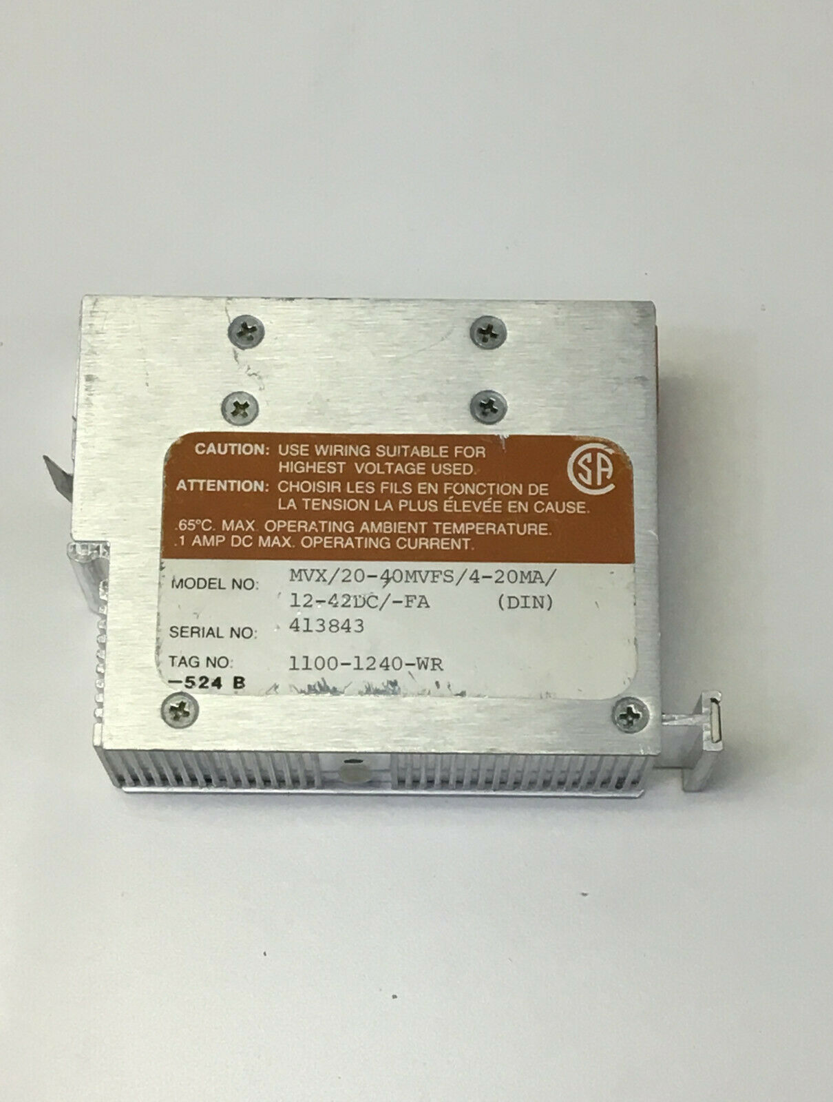 Moore  MVX 20-40MVFS 4-20MA 12-42DC -FA Millivolt Transmitter