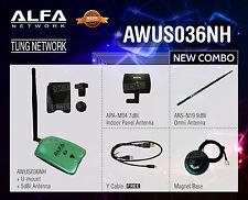Combo Alfa AWUS036NH 802.11n 2000mW WIRELESS-N USB adapter 2w