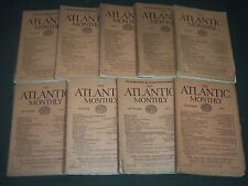 1921 THE ATLANTIC MONTHLY MAGAZINE LOT 9 ISSUES - GREAT COLOR ADS - WR 341D