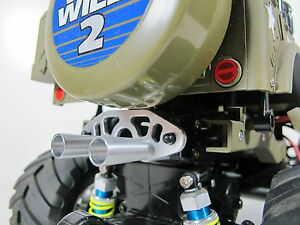 089eadff1f Custom Aluminum Muffler Battery Stopper Tamiya 1 10 RC Wild Willy ...